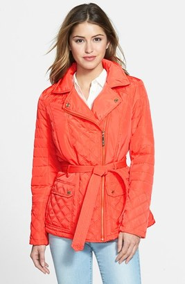 Women's Kensie Asymmetrical Quilted Jacket $118 thestylecure.com