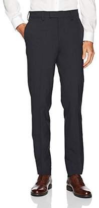 Louis Raphael Men's Slim Fit Comfort Flex Polyester Viscose Stretch Dress Pant
