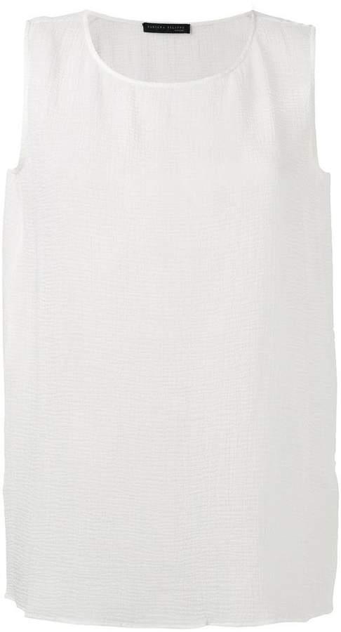 Fabiana Filippi layered sleeveless blouse