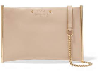 Chloé Roy Small Leather Shoulder Bag - Beige
