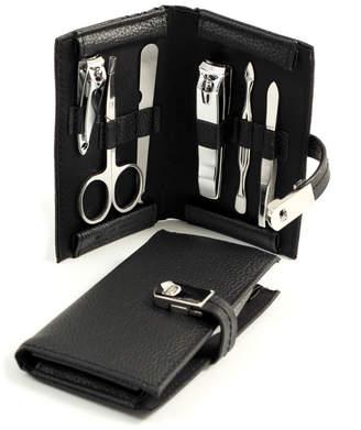 Bey-Berk Leather 6Pc Men's Grooming Set