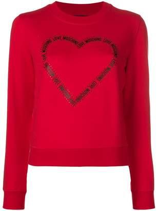 Love Moschino logo print heart sweatshirt