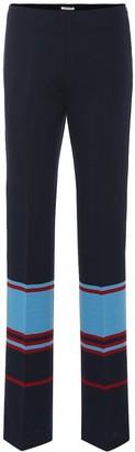 Miu Miu Striped wool-blend knit trousers