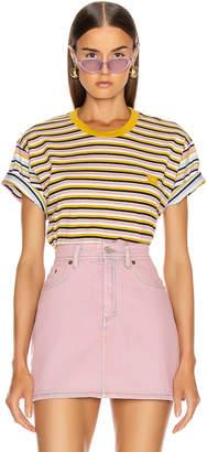 Acne Studios Elvin Face T Shirt in Dusty Pink | FWRD