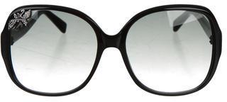 Swarovski Oversize Gradient Sunglasses $145 thestylecure.com