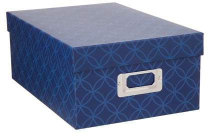 Darice Decorative Photo Storage Box: Blue Interlocking