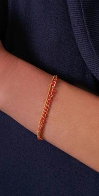 Bop Bijoux Bracelet with Gold Ball Chain