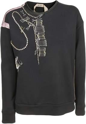 N°21 N.21 Embellished Sweatshirt
