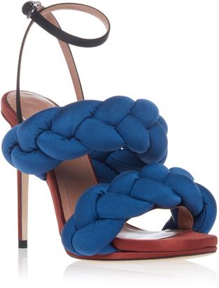 Marco de Vincenzo Braided Stiletto Sandal $950 thestylecure.com