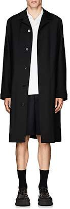 Jil Sander Men's Piqué Overcoat - Black