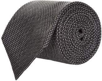 Emporio Armani Jacquard Dot Silk Tie