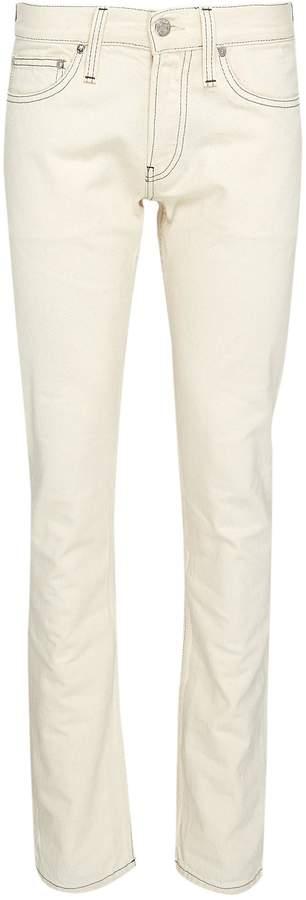 'Masc Lo Drainpipe' contrast topstitching slim fit jeans