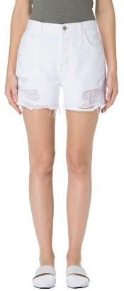 Women's J Brand Ivy High Waist Denim Shorts $198 thestylecure.com