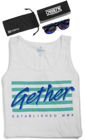 Hogan Cassette Optics Cassette/Gether Summer Bundle! Tank with OG Blue Tortoise Shades