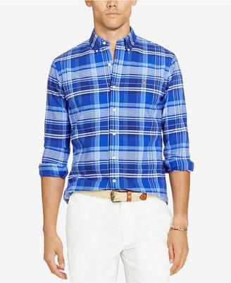 Polo Ralph Lauren Men's Plaid Oxford Shirt $89.50 thestylecure.com