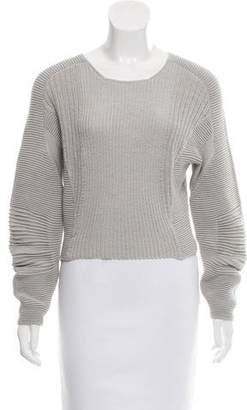 Helmut Lang Rib Knit Crop Sweater