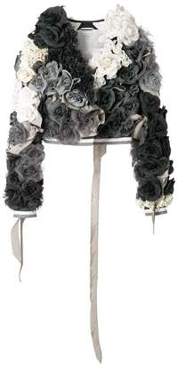 Thom Browne 3Dフローラル アップリケ クロップドジャケット