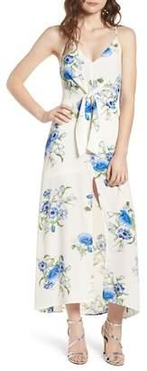 Lush Floral Print Maxi Dress