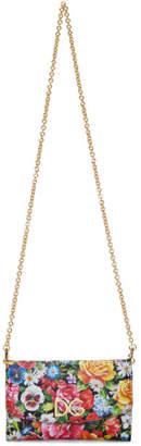 Dolce & Gabbana Multicolor Floral Chain Wallet Bag