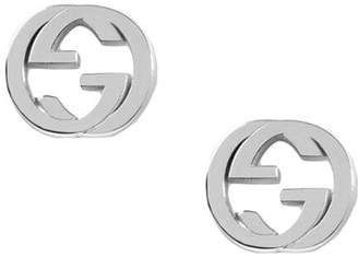 Gucci Silver interlocking G earring