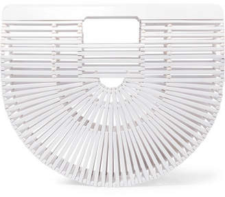 Cult Gaia Ark Small Bamboo Clutch - White