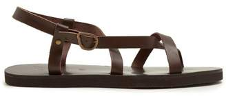 Ancient Greek Sandals Ambrosios Leather Sandals - Mens - Brown