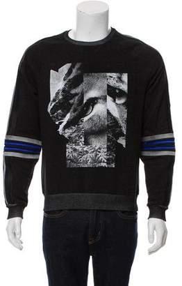 Les Hommes Graphic Print Crew Neck Sweatshirt