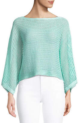 Eileen Fisher Frayed Linen Top