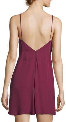 Haute Hippie Cassidy V-Neck Sleeveless Silk Mini Dress