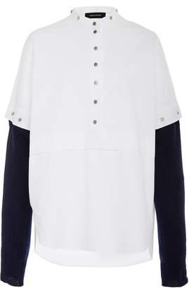 Cédric Charlier Monochrome Snap-Detailed Cotton Top