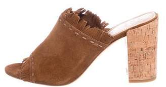 Tory Burch Fringed Suede Mules