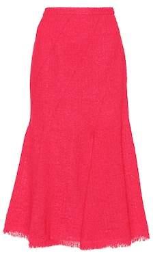 Oscar de la Renta Wool and mohair-blend skirt