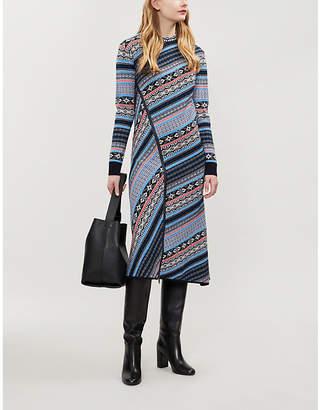 Sportmax Mammola Fair Isle-knit wool dress