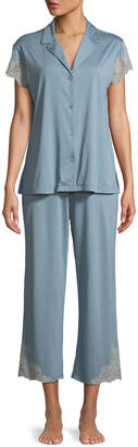 Natori Luxe Shangri-La Short-Sleeve Pajama Set