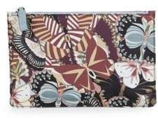 Valentino Butterfly-Print Pouch