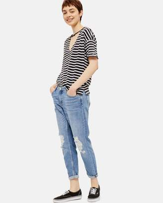 Topshop Lucas Rip Boyfriend Jeans