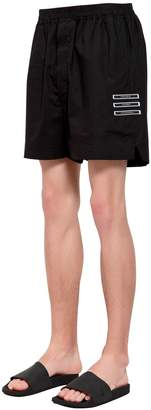 Rick Owens Drkshdw Patches Cotton Jersey Shorts