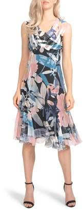 Komarov Chiffon A-Line Dress