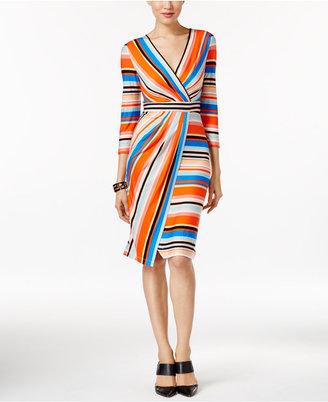 ECI Striped Faux-Wrap Dress $70 thestylecure.com