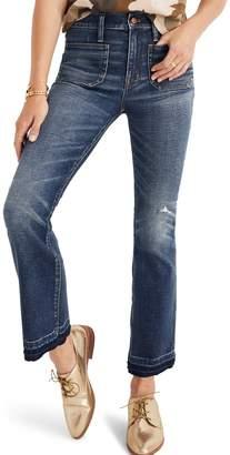 Madewell Cali Patch Pocket High Waist Demi Boot Jeans