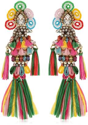 Shourouk Parrots Multi Clip-On Earrings