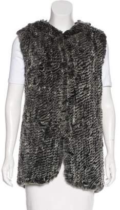 Saks Fifth Avenue Rabbit Fur Knit Vest