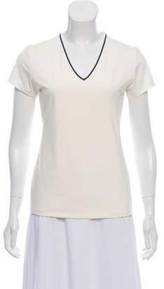 Tory Sport Short Sleeve V-Neck Top