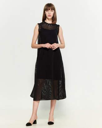 Jil Sander Open Knit Midi Dress
