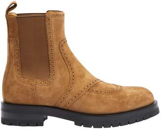 Hermes Brighton Camel Suede Ankle boots