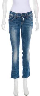 John Galliano Low-Rise Straight-Leg Jeans