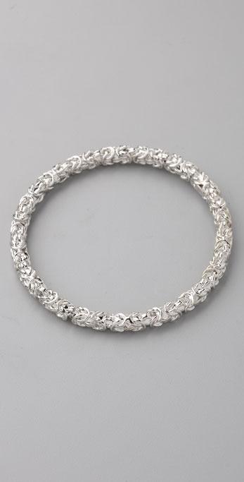 Kenneth Jay Lane Polished Silver Bangle