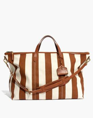 Madewell The Transport Weekender in Striped Canvas