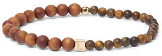 Luis Morais Wood and 14-Karat Gold Bead Bracelet - Men - Brown