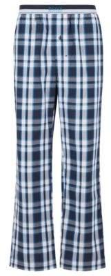 994fa1d2 BOSS Checked pyjama trousers in cotton poplin